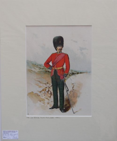 The 21st Royal Scots Fusiliers. 1880's